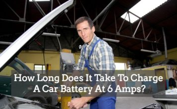 car battery charging time of 6 amps