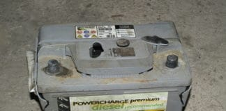 Leaving white power on a battery is the sign of corrosion.
