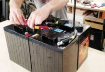 You can see the diagram below to learn how to wire two boat batteries.